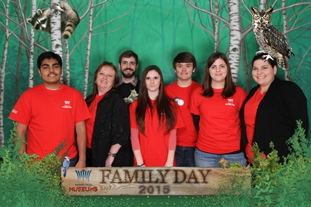 Picture of our volunteers who helped out on Family Day 2015