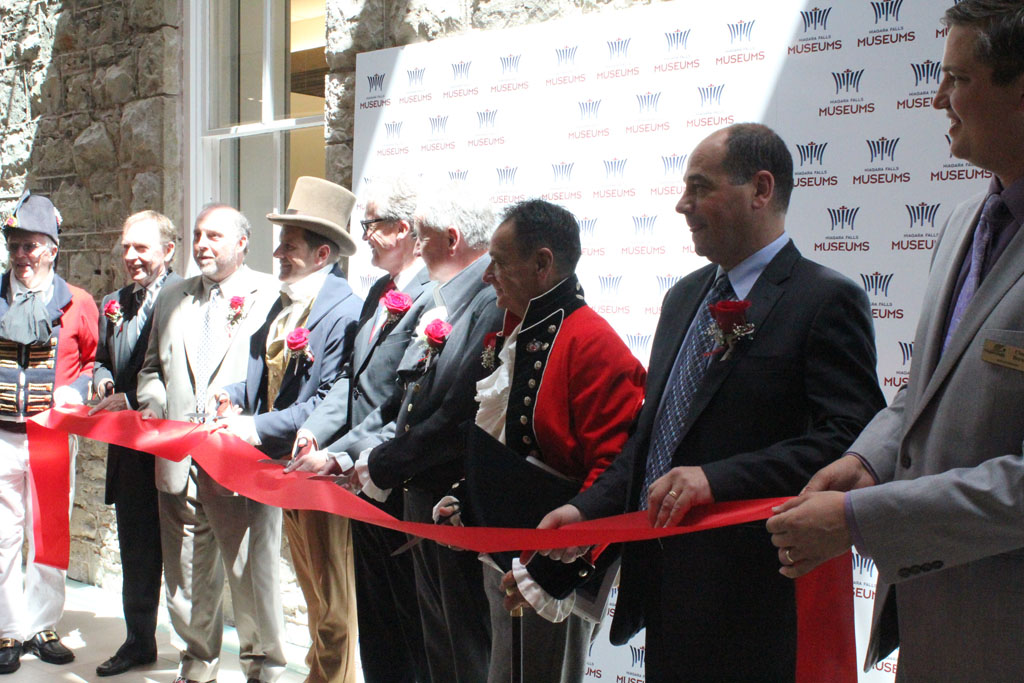 Ribbon cutting ceremony at the Niagara Falls History Museum