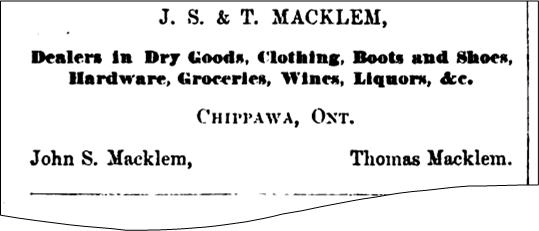 Store ad for J S and T Macklem
