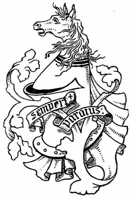 "The Macklem Family crest. The motto is ""Semper Paratus""  (Always Prepared). Published in Chadwick, Edward M (1894) ""Ontarian Families"", pg.177."