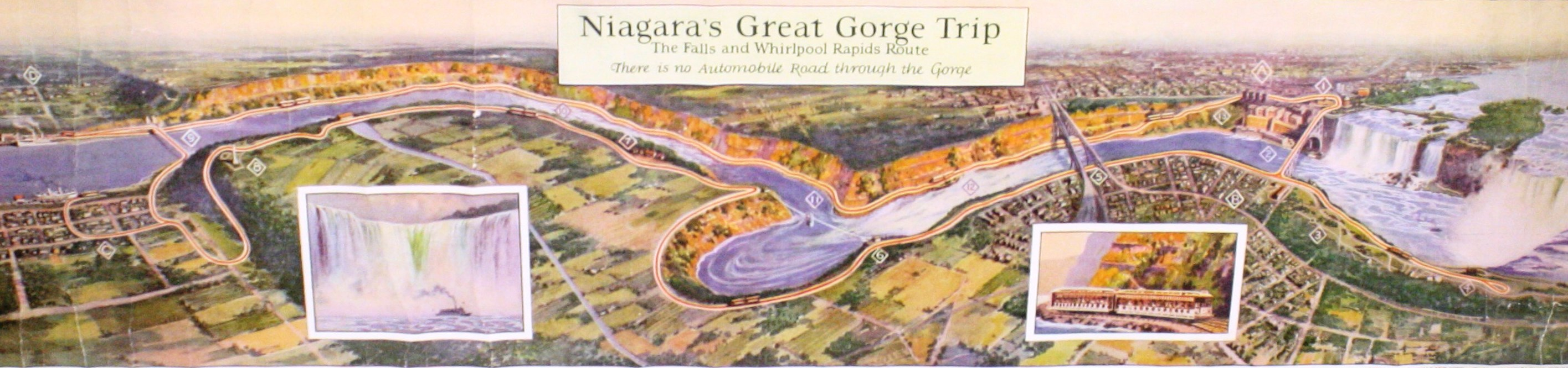 Map of the Great Gorge Trip around Niagara Falls